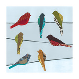 Birds on a Wire I Giclee Print by Jeni Lee