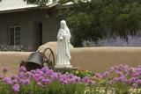 Saint Clare Statue, St. Francis of Assisi Churchyard, Ranchos De Taos, New Mexico Photographic Print