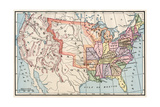 Map of the United States in 1830 Giclee Print
