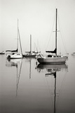 Red Sailboat I - BW Photographic Print by Tammy Putman