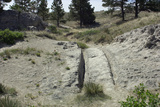 Oregon Trail Ruts Worn into Rock by Wagon Trains Near Guernsey, Wyoming Photographic Print