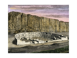 Restoration of Pueblo Bonito, Ancestral Puebloan/Anasazi Site in Chaco Canyon, New Mexico, 1250 AD Giclee Print