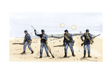 """Union Infantry Scouts """"Feeling the Enemy"""" Ahead of the Main Force Giclee Print"""