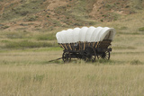 Conestoga Wagon Replica on the Oregon Trail, Scotts Bluff National Monument, Nebraska Photographic Print