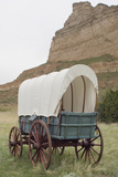 Covered Wagon Replica on the Oregon Trail, Scotts Bluff National Monument, Nebraska Photographic Print