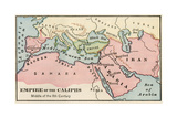 Empire of the Arab Caliphs, Middle of the 8th Century Giclee Print