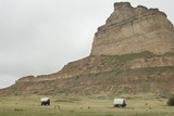 Covered Wagons on the Oregon Trail, Scotts Bluff National Monument, Nebraska Photographic Print