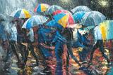 Promenade in Rain Posters by Stanislav Sidorov
