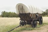 Conestoga Wagon Replica on the Oregon Trail, Scotts Bluff National Monument, Nebraska Photographic Print