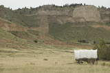Covered Wagon Replica on the Oregon Trail, Scotts Bluff National Monument, Nebraska Photographic Print