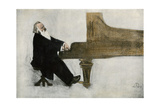Johannes Brahms at the Piano Giclee Print