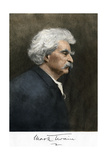Portrait of Samuel Clemens, with His Mark Twain Autograph Giclee Print