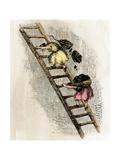 Women Coal-Bearers in the East Scotland Mines, 1850s Giclee Print