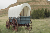 Covered Wagon Replica on the Oregon Trail, Scotts Bluff National Monument, Nebraska Fotografie-Druck