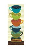 Stacking Cups II Giclée-Premiumdruck von Jeni Lee