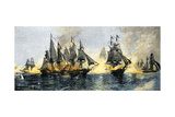 British and American Ships Engaged in the Battle of Lake Erie, 1813 Giclee Print