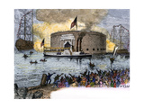 Lafayette Landing in New York to Begin His Grand Tour of the Us, 1824 Giclee Print