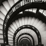 Rookery Stairwell Sq Photographic Print by Jim Christensen