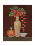 Red Anthuriums Giclee Print by Eva Misa