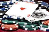 Poker Hand I Fotografiskt tryck av C. McNemar