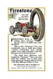 Advertisement for Firestone Tire and Rubber Company, 1912 Giclee Print