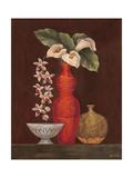 White Calla Lilies Premium Giclee Print by Eva Misa