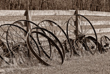 Antique Wagon Wheels I Photographic Print by C. McNemar
