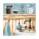 Blue Bath I Premium Giclée-tryk af Gregory Gorham