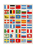 Flags of Forty Countries About 1890 Giclée-tryk
