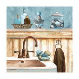 Blue Bath II Premium Giclée-tryk af Gregory Gorham