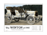 Advertisement for the Winton Automobile, 4-Cylinder Model, with Price List, 1905 Giclee Print