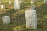 Kentucky Cavalry Soldier's Headstone Amid Other Union Graves, National Cemetery, Shiloh, Tennessee Photographic Print
