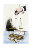 Scales for Weighing Coins Used by a Town Clerk in Middletown, Connecticut, 1777-1797 Giclee Print