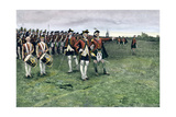 General Wolfe Assembling the British Army on the Plains of Abraham to Take Quebec, 1759 Giclee Print
