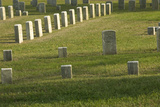 Kentucky Soldier's Headstone Amid Other Union Graves, National Cemetery, Shiloh, Tennessee Photographic Print
