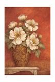 Villa Flora Peonies Premium Giclee Print by Pamela Gladding