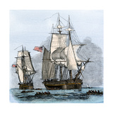Resolute and Four Other Ships Leaving England, Search for Franklin's Lost Arctic Expedition, 1852 Giclee Print