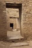 Doorways Inside Pueblo Bonito, an Anasazi/Ancestral Puebloan Site in Chaco Canyon, New Mexico Reprodukcja zdjęcia