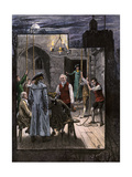 Ringing Christmas Bells in an English Belfry, 1700s Giclee Print
