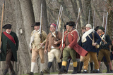 Minutemen Reenactors Marching to Battle the British at the Battle of Concord, Concord, MA Photographic Print