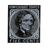 Confederate Postage Stamp Bearing Portrait of Jefferson Davis Giclee Print