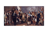 Dutch Celebrating the Treaty of Westphalia, Ending the Thirty Years' War, 1648 Giclee Print