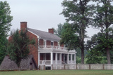 McLean House, Appomattox Court House, Virginia, Where Lee's Confederate Army Surrendered, 1865 Papier Photo