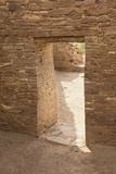 Doorway Inside Pueblo Bonito, an Anasazi/Ancestral Puebloan Site in Chaco Canyon, New Mexico Photographic Print