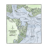 Chart of Charleston Harbor, Showing Fort Sumter and Fort Moultrie Impression giclée