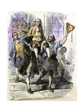 John Peter Zenger Celebrating His Acquittal after Trial for Libel, Colonial New York City, 1735 Giclee Print