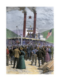 First Steamer Carrying Gold Out of Dawson City, Yukon Territory, 1898 Giclee Print