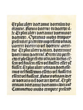 "Page of the ""Grammaire Latine"" by Donatus, Published by Gutenberg Giclee Print"