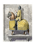 Philippe Le Bel in Armor as He Appeared When Entering Paris in 1304 Giclee Print