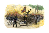 Confederates Capturing Union Breastworks During the Battle of the Wilderness in Virginia, 1864 Giclee Print